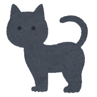 ハロウィンのマーク(黒猫)