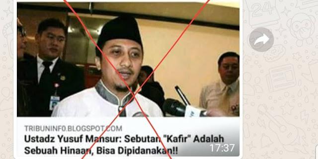 Ustadz Yusuf Mansur Dserang Hoax Soal Ucapan Kafir