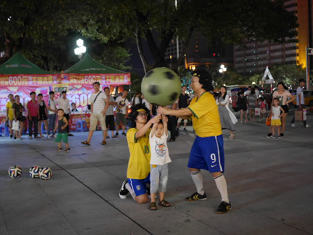 little boy participating in a soccer show