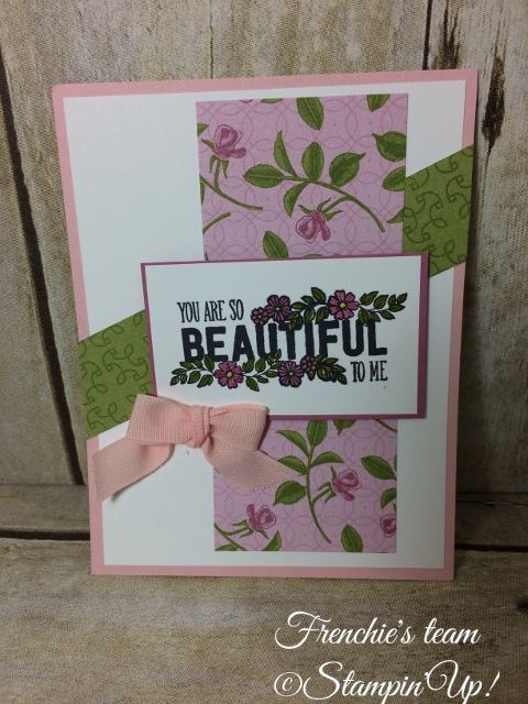 Just Add Text , Petal Garden Designer Series Paper Stampin'Up!