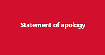 Statement of apology