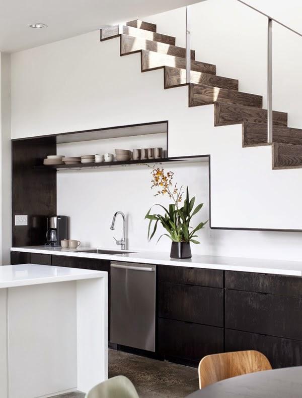 Cocinas peque as bajo la escalera colores en casa for Escalera de cocina