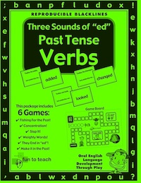 "The 3 Sounds of ""ed"" Past Tense freebie Verb Game  This fun and effective freebie grammar game, The 3 sounds of ""ed"" Past Tense Verbs games and grammar activities are engaging and enjoyable ways for children to practice using The 3 Sounds of ""ed"" Past Tense Verbs.  This free game packet contains some of the great games/activities found in our original game packet.  This package consists of : *GAME BOARD *GAME CARDS *WORD CARDS *NUMBER CARDS  These grammar based games with lesson plans and activities give students the opportunity to practice English vocabulary and language skills in a fun and relaxing setting. As students play these engaging games they naturally transfer skills they learn in class!  Please follow us!"