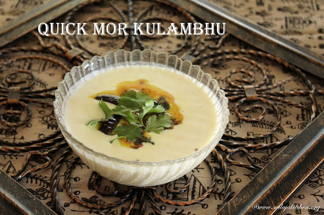 images of Quick Mor Kulambu / Majjiga Pulusu / Easy Mor Kulambu
