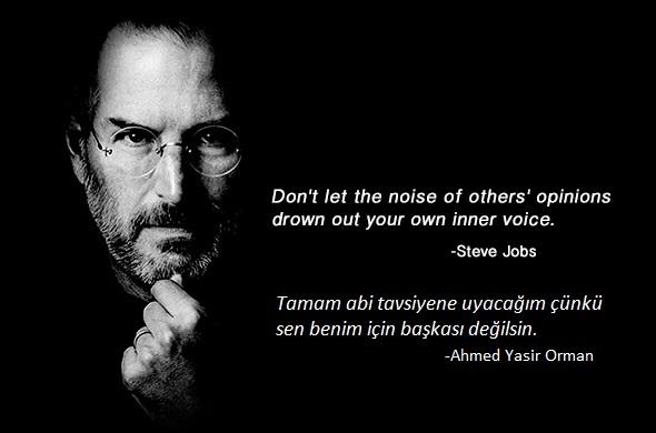 Parmak kaldırın. Aramızdan bir Steve Jobs seçiyoruz!
