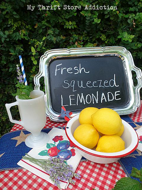 Lavender lemonade recipe and Patriotic Porches Tour