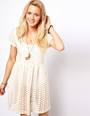 Cream Tea Dress from Asos