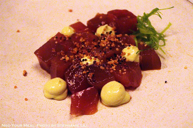 Bluefin Tuna Zuke at Dinnertable in New York City