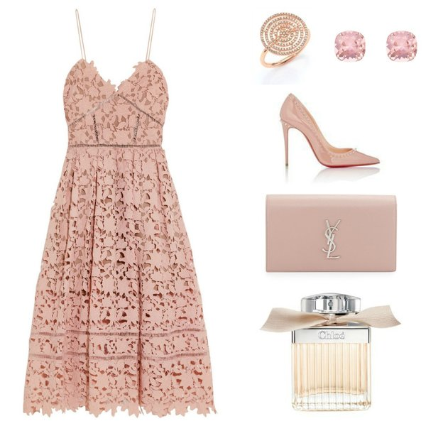 summer wedding outfit - pink lace dress - Ioanna's Notebook