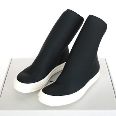 rick owens drkshdw neoprene boots scubasock shoes