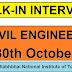 Walk-In For Civil Engineer | Salary - 25000/- | Walk-In Date : 30-10-2018