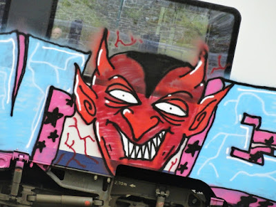 graffiti of Red devil