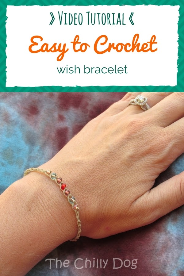 Crochet Video Tutorial: How to crochet and easy, beaded wish bracelet for summer. This is a good beginner crochet project.