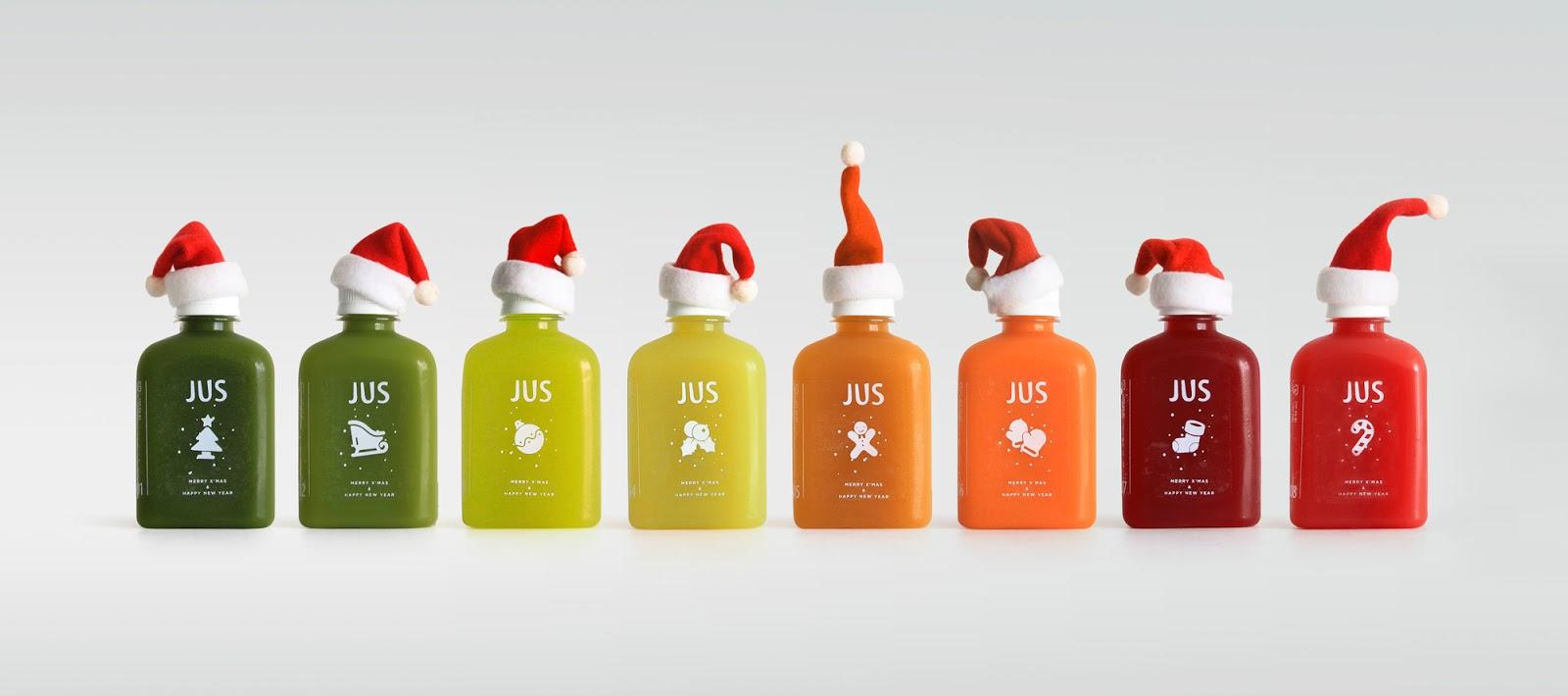 JUS • Juice Up Santa | Christmas Seasonal Packaging on