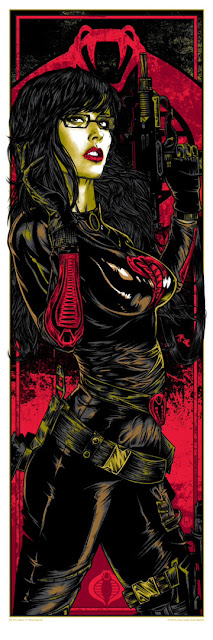 The Baroness Metallic Variant G.I. Joe Screen Print by Rhys Cooper