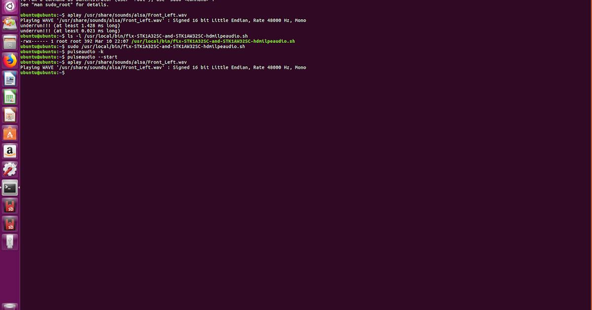 linuxium com au: Fixing broken HDMI audio (again)