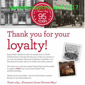 Fannie May coupons april 2017