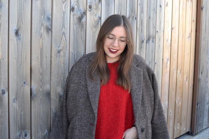 pull rouge American VIntage, manteau Isabel Marant