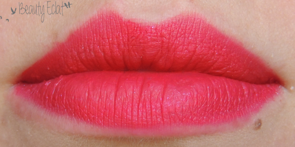revue avis test sephora rouge veloute sans transfert strawberry kissed swatch