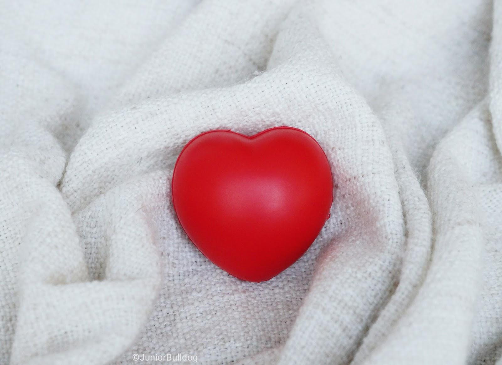 balle anti-stress coeur