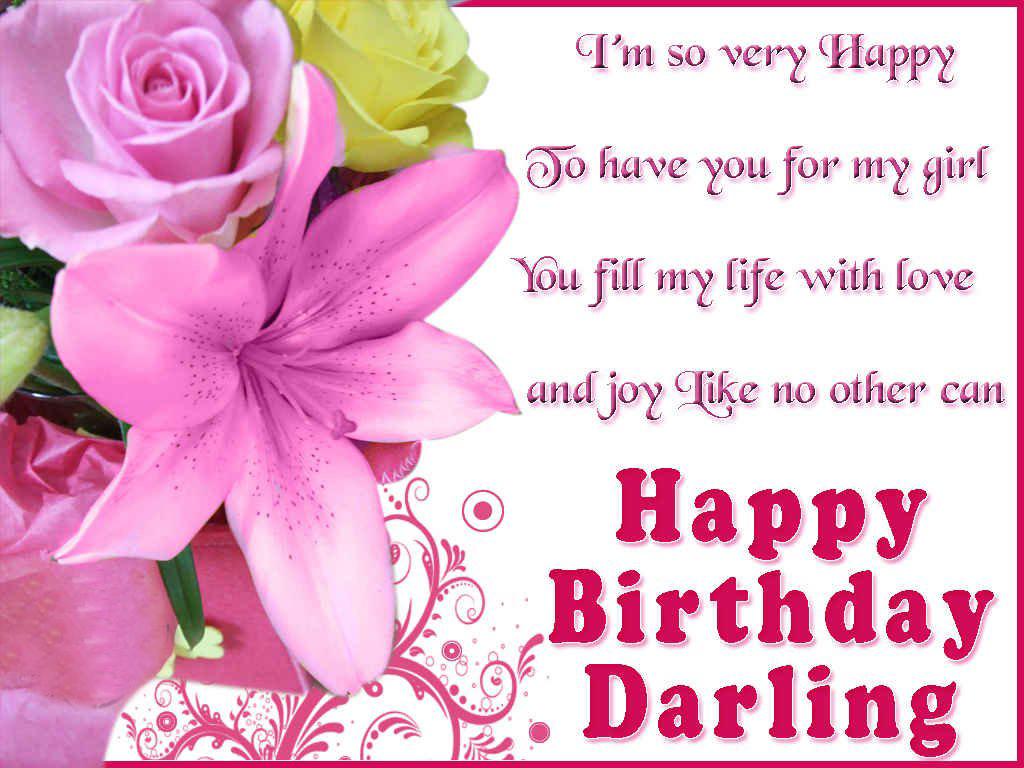 Happy Birthday To My Girlfriend Wishes Love
