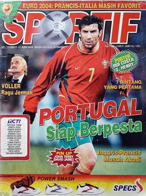 SOCCER MAGAZINE COVER LUIS FIGO OF PORTUGAL