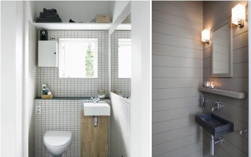 Piccoli bagni di servizio o per gli ospiti blog di arredamento e interni dettagli home decor - Arredo bagno piccoli spazi ...