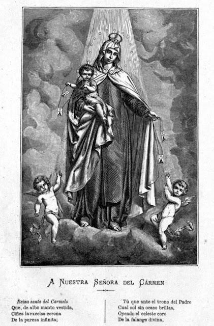 Grabado (Virgen del Carmen).