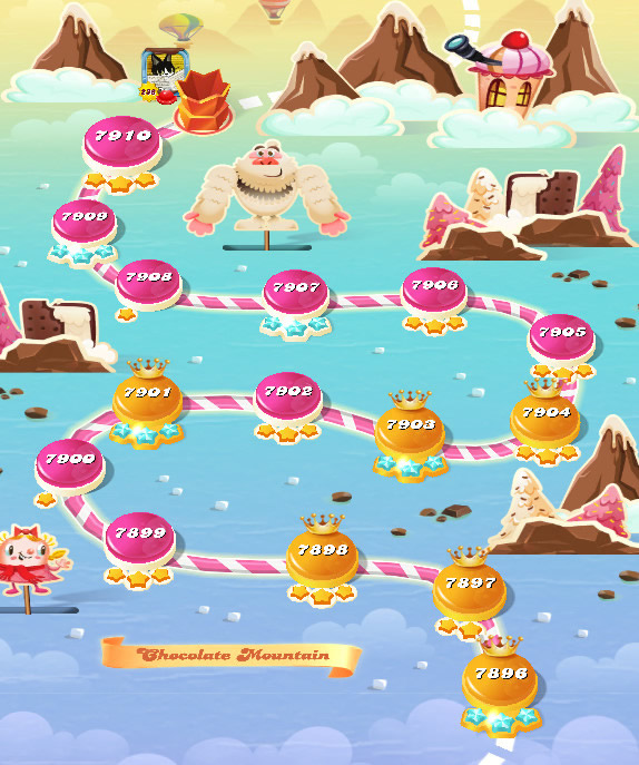 Candy Crush Saga level 7926-7940
