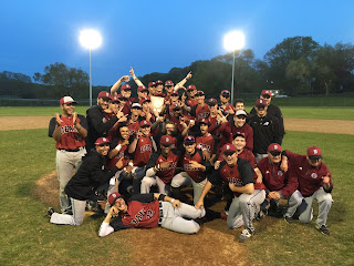 Dean Baseball team poses in celebration of win!