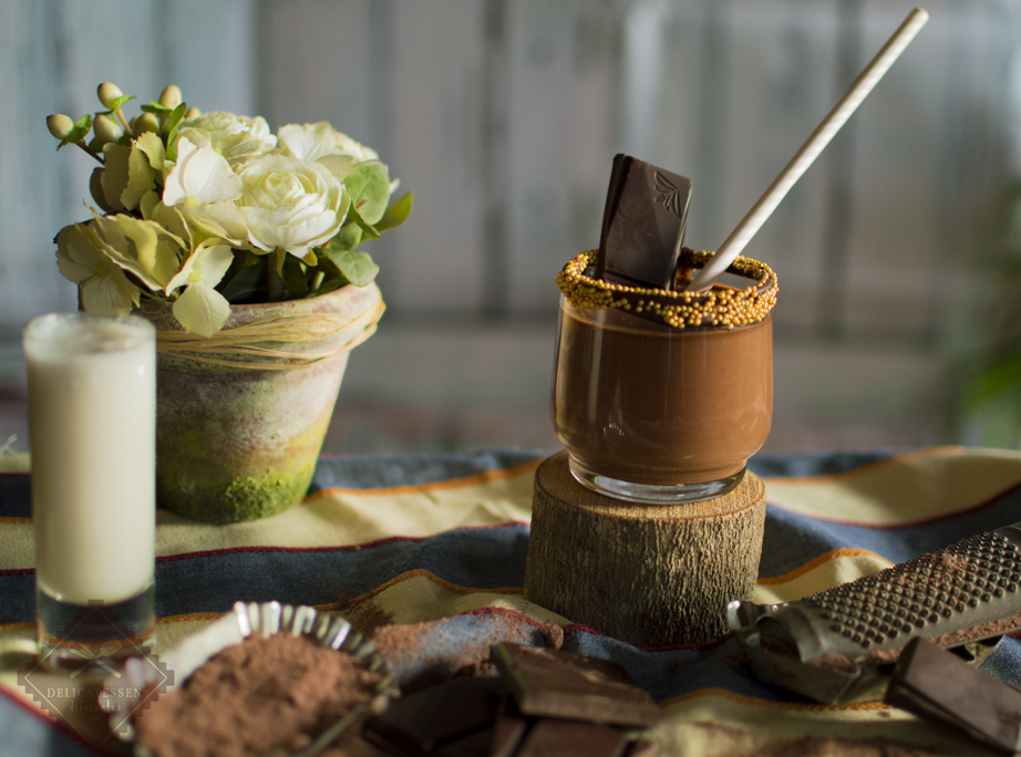 smoothie o batido de chocolate ecologico