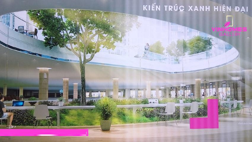 Vẻ đẹp kiến trúc xanh hiện đại chỉ có tại dự án Vinhomes Gallery