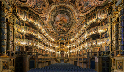 Margravial Opera House in Beyreuth, Germany, interior shot