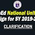 DepEd National Uniform Design for 2019-2020