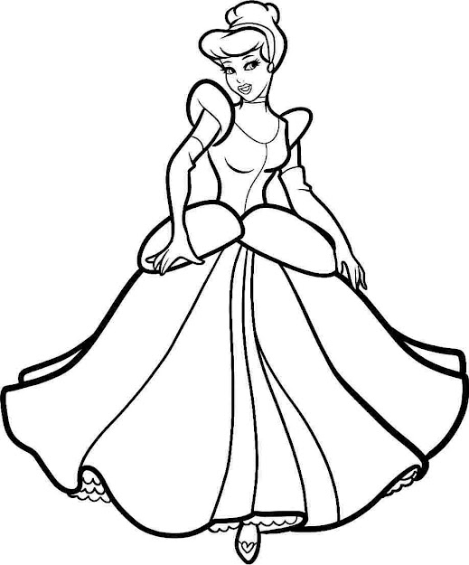 Princess Cinderella Coloring Pages Disney Princess Cinderella
