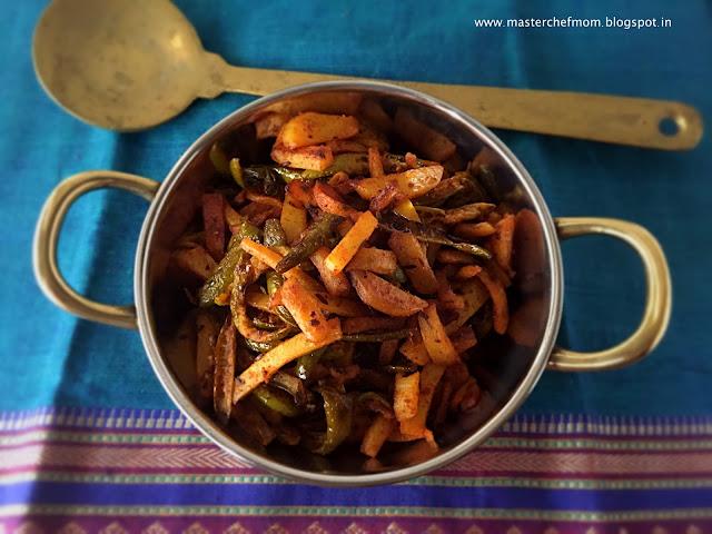 Aloo Kundru/Tindora Stir Fry | Potato Ivy Gourd Stir Fry | Urulai Kovakka Fry