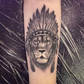 tatuaje león