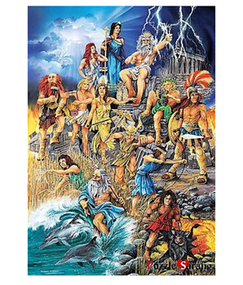 1000 piece jigsaw Greek gods & goddess'