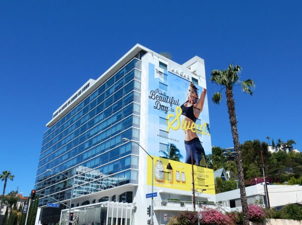 beautiful day to sweat Protein World billboard