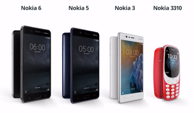 Nokia android line up