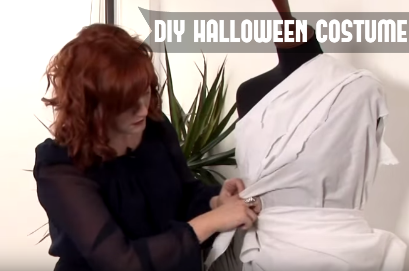 Corpse Bride Halloween Costume Diy.Style A Sheet Into A Halloween Corpse Bride Costume