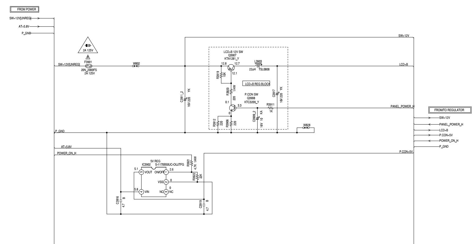hight resolution of rca l32hd32d power board schematic