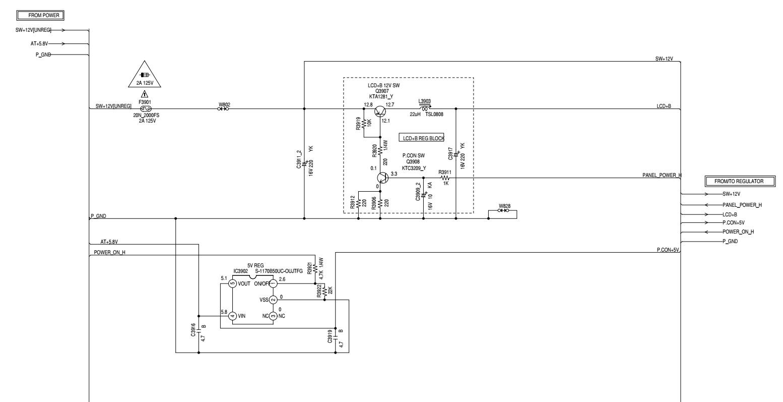 rca l32hd32d power board schematic [ 1554 x 797 Pixel ]
