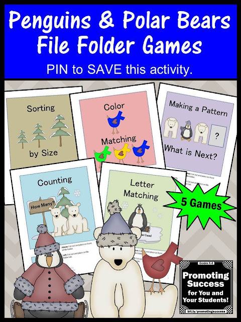 printable preschool autism kindergarten file folder games
