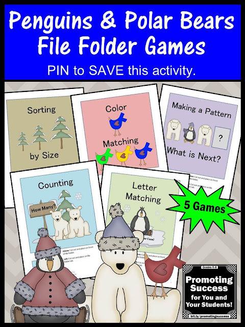 printable preschool autism kindergarten file folder games