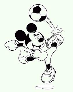 Sketsa Mewarnai Gambar Kartun Mickey Mouse 20167