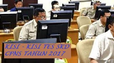 Kisi - Kisi Soal (Materi) Tes SKD (Seleksi Kompetensi Dasar) CPNS Tahun 2017