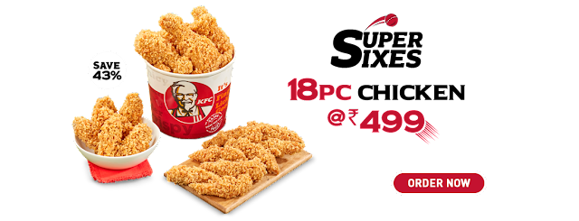 18 Pc chicken @ INR 499