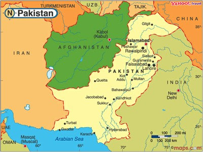 Image result for map of pakistan and afghanistan
