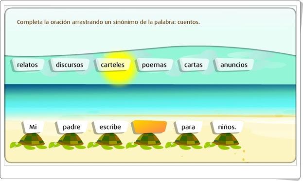 """""""Los sinónimos"""" (Juego de Lengua Española de Primaria)"""